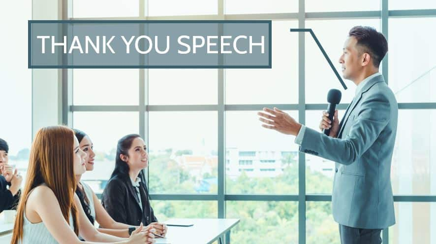 Thank you speech samples for Teachers, Students, Party, Personal Events