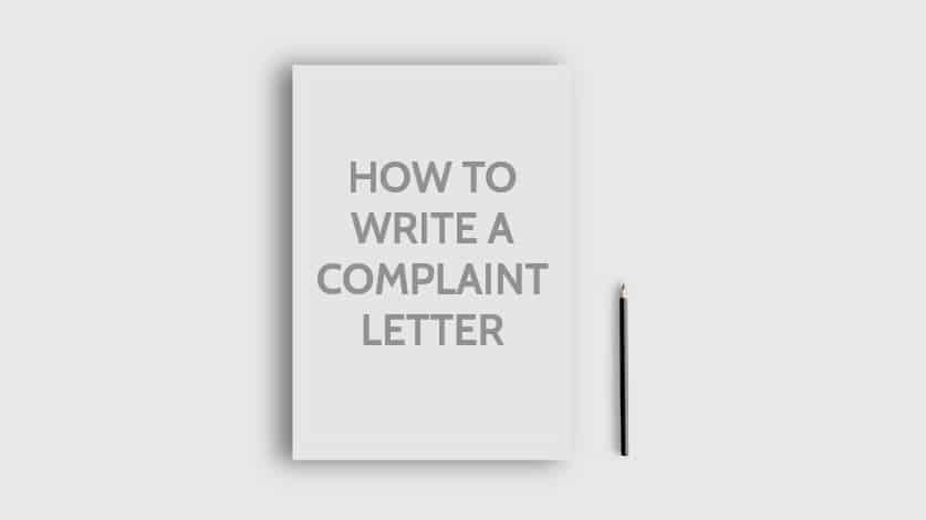 How to Write a Complaint Letter for various topics? with Format Samples